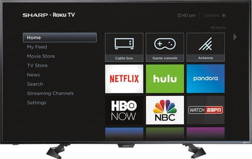 "Best Buy Weekly Ad: Sharp - 50"" Class LED 1080p Smart HDTV (Roku TV) for $329.99"