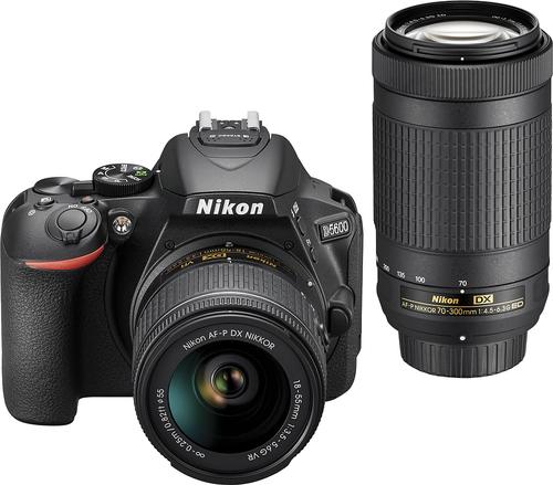 Best Buy Weekly Ad: Nikon D5600 2 Lens DSLR Camera Kit for $799.99