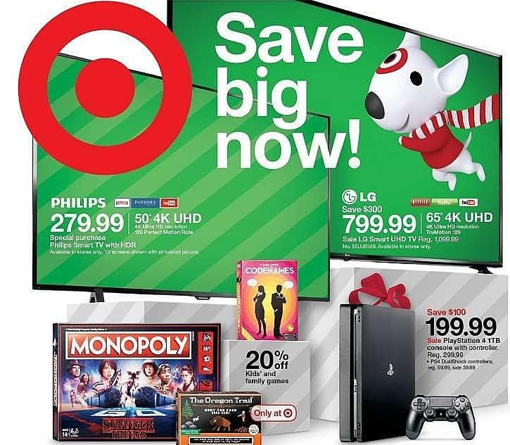 """Target Weekly Ad: Philips - 50"""" 4K UHD Smart TV for $279.99"""