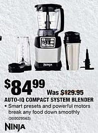 Home Depot Black Friday: Ninja Auto-IQ Compact System Blender for $84.99