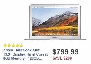 Best Buy Weekly Ad: Apple - MacBook Air - Intel Core i5 - 8GB Memory - 128GB Flash Storage for $799.99