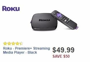 Best Buy Weekly Ad: Roku - Premiere+ Streaming Media Player - Black for $49.99