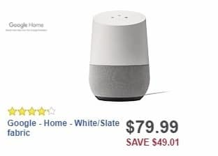 Best Buy Weekly Ad: Google - Home - White/Slate fabric for $79.99