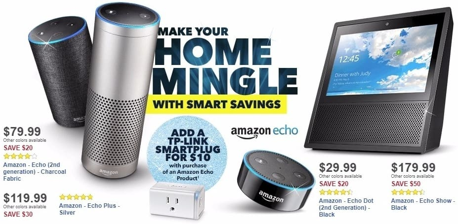 Best Buy Weekly Ad: Amazon - Echo Dot (2nd Generation) - Black for $29.99