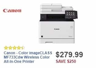Best Buy Weekly Ad: Canon - Color imageCLASS MF733Cdw Wireless Color All-In-One Printer for $279.99