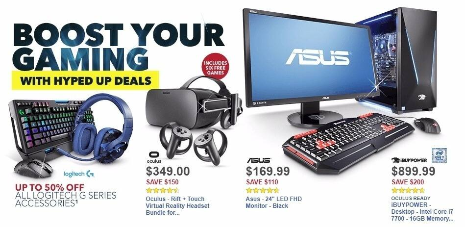 Best Buy Weekly Ad: iBUYPOWER - Desktop - Intel Core i7 7700 - 16GB Memory - NVIDIA GeForce GTX 1060 - 120GB Solid State Drive + 1TB Hard Drive - Gray/black for $899.99