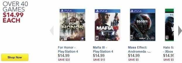 Best Buy Weekly Ad: Over 40 Games - Assorted Video Games for $14.99