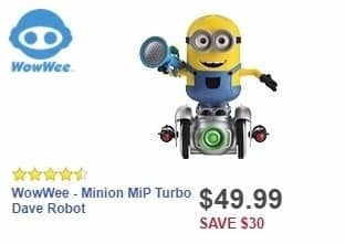 Best Buy Weekly Ad: WowWee - Minion MiP Turbo Dave Robot for $49.99