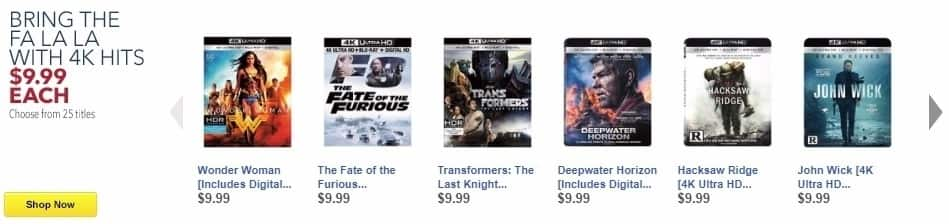 Best Buy Weekly Ad: Bring the Fa La LA with 4K Hits Movies for $9.99