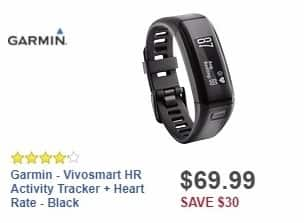 Best Buy Weekly Ad: Garmin - Vivosmart HR Activity Tracker + Heart Rate - Black for $69.99