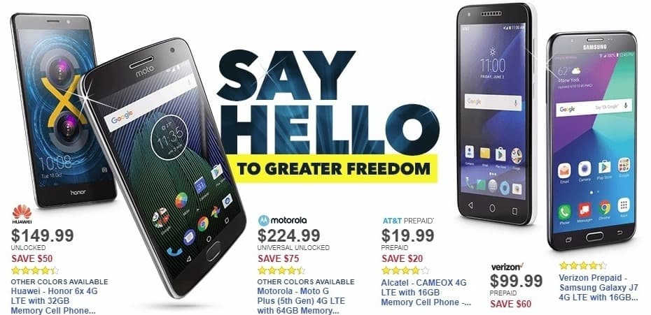 Best Buy Weekly Ad: Verizon Prepaid - Samsung Galaxy J7 4G LTE with 16GB Memory Prepaid Cell Phone - Black for $99.99