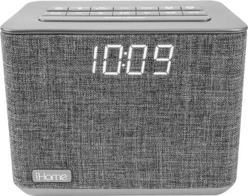 Best Buy Weekly Ad: iHome - FM Dual-Alarm Clock Radio - Gray for $39.99