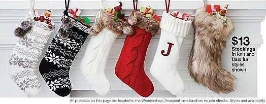 Target Weekly Ad: Faux Fur Christmas Stocking - Wondershop for $13.00