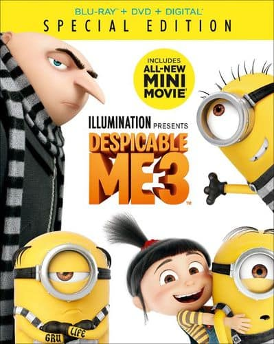 Best Buy Weekly Ad: Despicable Me 3 Blu-ray+DVD+Digital for $19.99