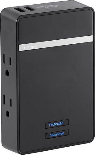 Best Buy Weekly Ad: Rocketfish 4-Outlet 2-USB Low-Profile Surge Protector for $19.99