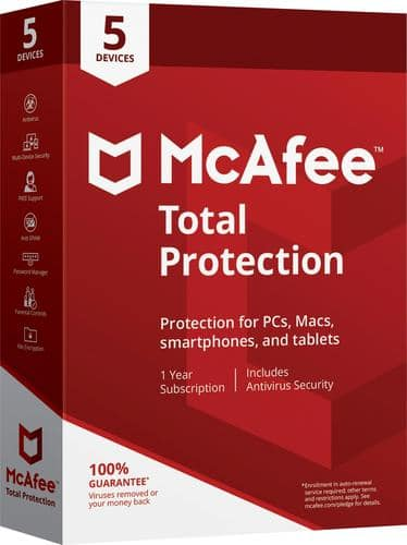 Best Buy Weekly Ad: McAfee Total Protection 5 Device for $24.99