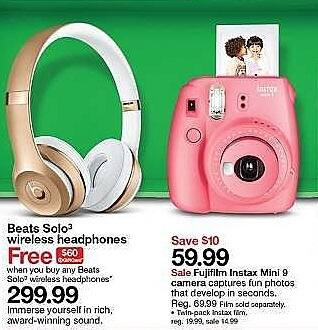 Target Weekly Ad: Beats Solo3 Wireless Headphones - Varies colors for $299.99