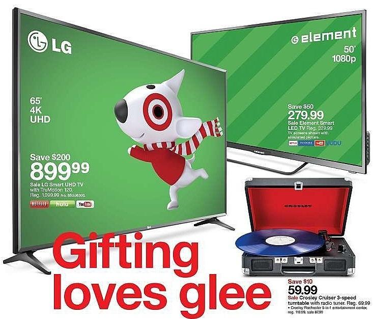 "Target Weekly Ad: Element 50"" Smart 1080p 60Hz LED HDTV - Black for $279.99"