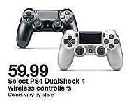 Target Weekly Ad: PlayStation 4 DualShock 4 Wireless Controller - Black for $59.99