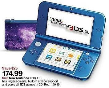 Target Weekly Ad: New Galaxy Style New Nintendo 3DS XL for $174.99