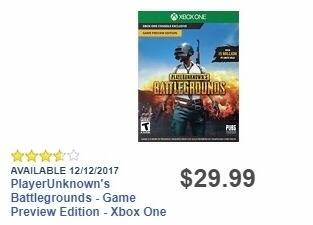 Best Buy Weekly Ad: PlayerUnknown's Battlegrounds - XB1 for $29.99
