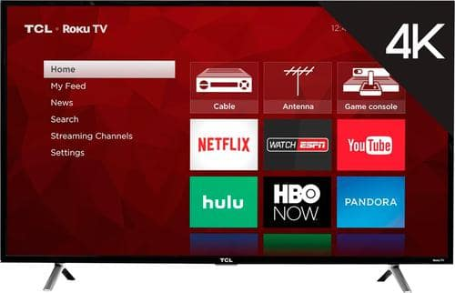 """Best Buy Weekly Ad: TCL - 49"""" Class LED 4K Ultra HD Smart TV for $359.99"""