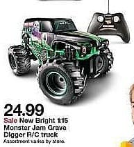 Target Weekly Ad: New Bright 1:15 R/C FF Monster Jam Pirate's Curse for $24.99