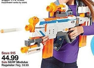 Target Weekly Ad: NERF Modulus Regulator for $44.99