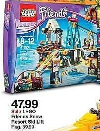 Target Weekly Ad: LEGO® Friends Snow Resort Ski Lift 41324 for $47.99