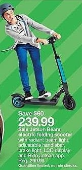 Target Weekly Ad: Jetson Beam Electric Scooter for $239.99