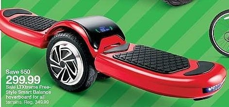 Target Weekly Ad: LTXTREME Free-Style Hoverboard - Red for $299.99