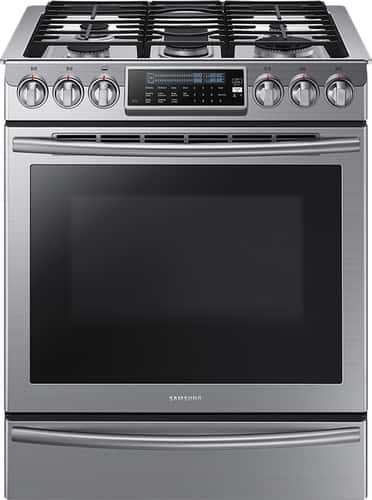Best Buy Weekly Ad: Samsung - 5.8 cu. ft. Gas Slide-In Convection Range for $1,599.99