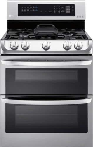 Best Buy Weekly Ad: LG - 6.9 cu. ft. Gas Double Oven Convection Range for $1,499.99