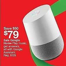 Target Weekly Ad: Google Home - White for $79.00