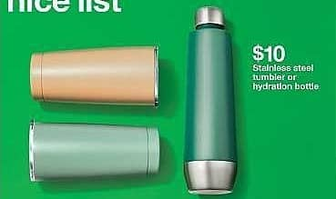 Target Weekly Ad: Stainless Steel Portable Water Bottle 18oz - Threshold for $10.00