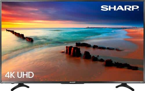 "Best Buy Weekly Ad: Sharp - 55"" Class LED 4K Ultra HD Smart TV (Roku TV) for $399.99"