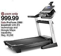 Target Weekly Ad: ProForm PRO 2000 Treadmill for $999.00