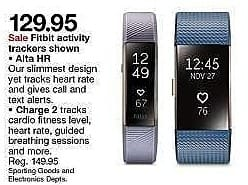 Target Weekly Ad: Fitbit Charge 2 Heart Rate + Fitness Wristband for $129.95