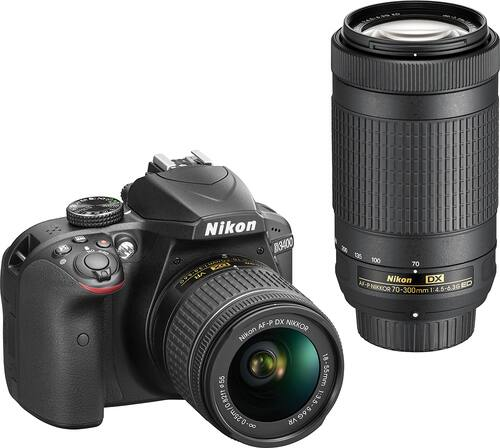 Best Buy Weekly Ad: Nikon D3400 2 Lens DSLR Camera Kit for $599.99