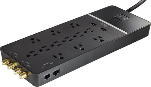Best Buy Weekly Ad: Rocketfish 12-Outlet/2-USB Surge Protector Strip for $59.99