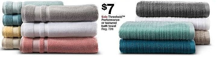 Target Weekly Ad: Textured Bath Collection - Threshold for $7.00