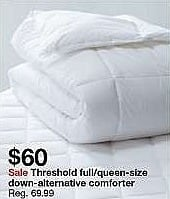 Target Weekly Ad: Warmer Down Alternative Comforter - Threshold for $60.00