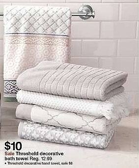 Target Weekly Ad: Textured Floral Bath Towels - Threshold for $10.00