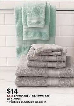 Target Weekly Ad: Towel Set - Threshold for $14.00
