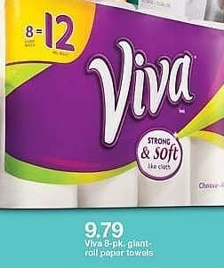 Target Weekly Ad: Viva White Giant Paper Towels - 8ct for $9.79