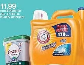 Target Weekly Ad: Arm & Hammer Clean Breeze Laundry Detergents for $11.99