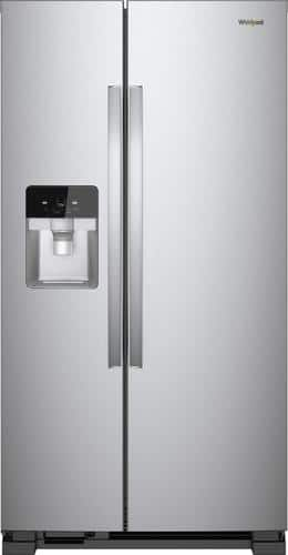 Best Buy Weekly Ad: Whirlpool - 24.6 cu. ft. Side-by-Side Refrigerator - Fingerprint-Resistant Stainless Steel for $1,099.99