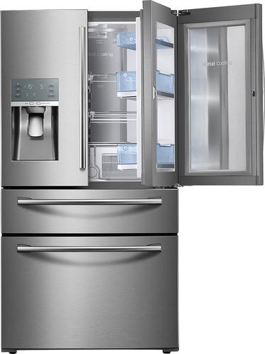 Best Buy Weekly Ad: Samsung - Showcase 27.8 cu. ft. 4-Door French Door Refrigerator - Stainless Steel for $2,599.99