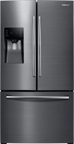 Best Buy Weekly Ad: Samsung - 24.6 cu. ft. French Door Refrigerator-Black Stainless Steel for $1,699.99