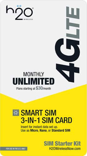 Best Buy Weekly Ad: H2O Wireless 3-in-1 SIM Card for $4.99
